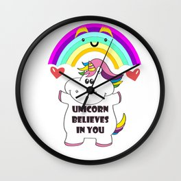 cute unicorn  Wall Clock