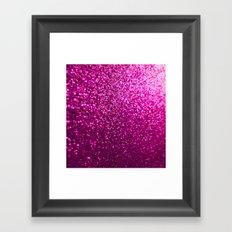 Pink Sparkle Glitter Framed Art Print