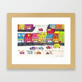 Handmade town Framed Art Print