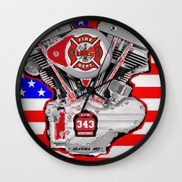 Fire Dept Tribute Wall Clock