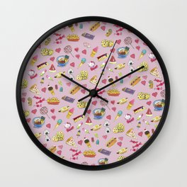Snacks patter design Wall Clock