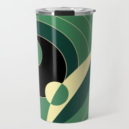 Retro Deco Green Travel Mug