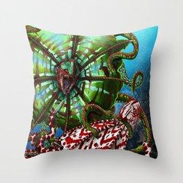 Striped Kuma Beast Throw Pillow
