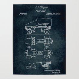 1863 - Parlor skate patent art Poster