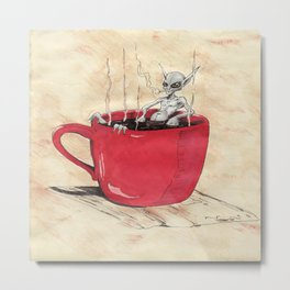 Cluster Coffee Break Metal Print