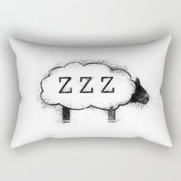 ZZZ Sheep - Distressed Rectangular Pillow