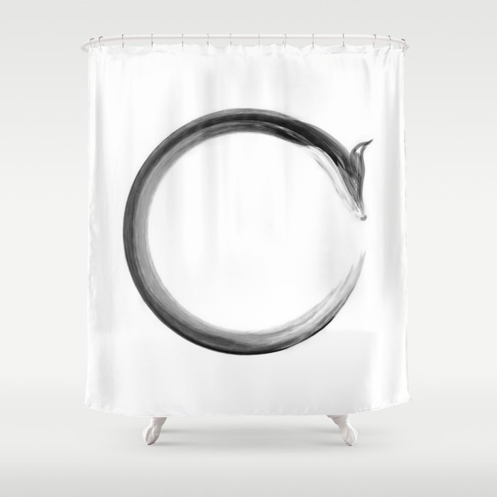 CalmFox Enso Shower Curtain
