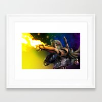 boba Framed Art Prints featuring Boba Fett by Vincent Vernacatola