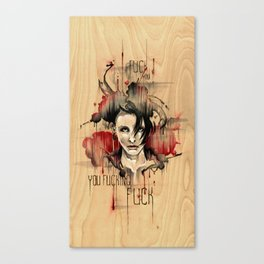Lisbeth Salander - Fuck You Canvas Print