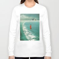 cities Long Sleeve T-shirts featuring Waiting For The Cities To Fade Out by Frank Moth