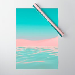 Pink Beach Wrapping Paper