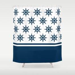 Sailing wheel pattern Shower Curtain