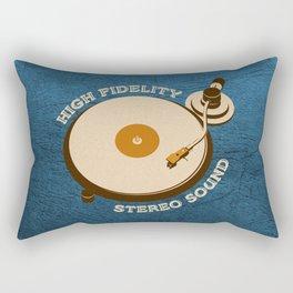 Hi-Fi Blue Rectangular Pillow