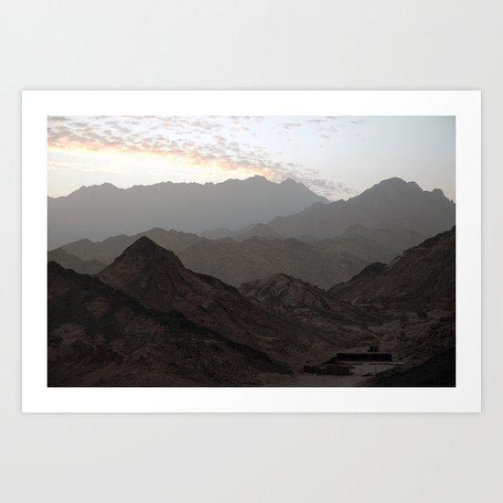 Sinai Mountains, Egypt Art Print