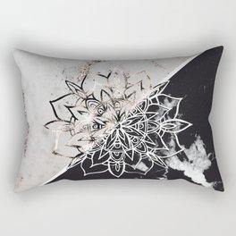 Yin Yang Mandala on Marble #1 #decor #art #society6 Rectangular Pillow