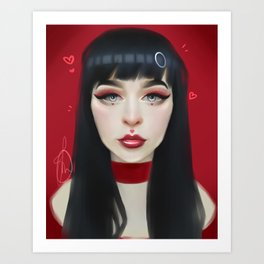 Red Lip Art Print