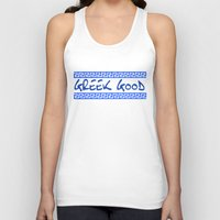 greek Tank Tops featuring Greek god greek key by anto harjo