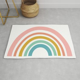 Simple Happy Rainbow Art Rug