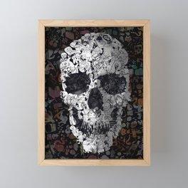 Doodle Skull Framed Mini Art Print