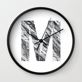 The Letter M- Stone Texture Wall Clock