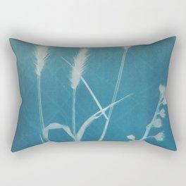 kentucky bluegrass cyanotype #1 Rectangular Pillow