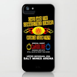 Cave & The Combustible Lemons iPhone Case