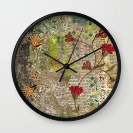 Morning flowers Wall Clock