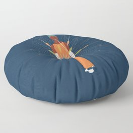 woman deterninated to shine Floor Pillow
