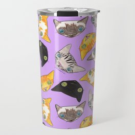 """Oro?"" Cats-Lavender Travel Mug"