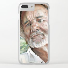 Portrait Painting Bill Clear iPhone Case