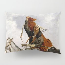 "Frederic Remington Western Art ""The Blanket Signal"" Pillow Sham"