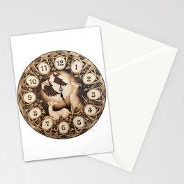 Greyhound Art Nouveau Clock Stationery Cards