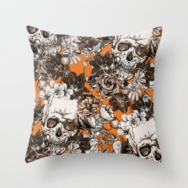 SKULLS 2 HALLOWEEN Throw Pillow