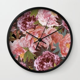 the packed pink Wall Clock