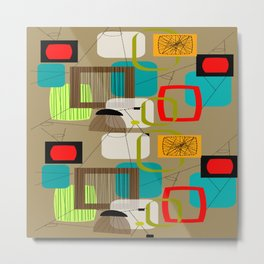 Mid-Century Modern Inspired Abstract Metal Print