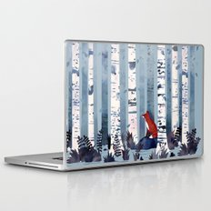 The Birches (in Blue) Laptop & iPad Skin