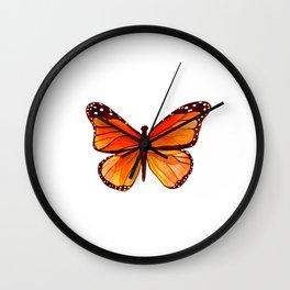Sunset Butterfly Wall Clock