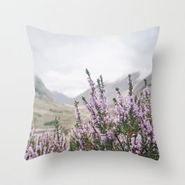 Heather in Glencoe Throw Pillow