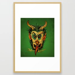 Merry Krampus Framed Art Print