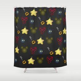 Kingdom Hearts Pattern Shower Curtain