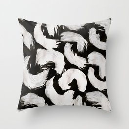 Cocoon, Abstract, White & Black Throw Pillow