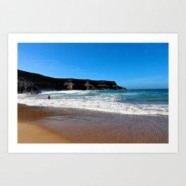 Idyllic place, delightful beach at Corralejo, Fuerteventura Art Print