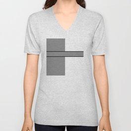 Team Color 6....gray.white Unisex V-Neck
