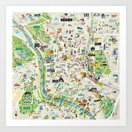 Mapa Madrid Art Print