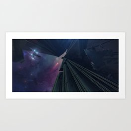 What Goes on in the Depths of Space? Art Print