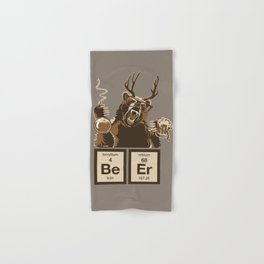 Funny chemistry bear discovered beer Hand & Bath Towel