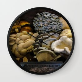 Oyster Mushrooms Wall Clock