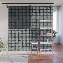 The Grid-Gray Wall Mural