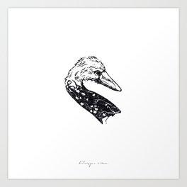 Cherry Swan Art Print