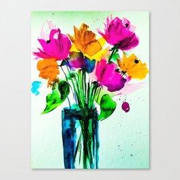 big colorful bouquet Canvas Print